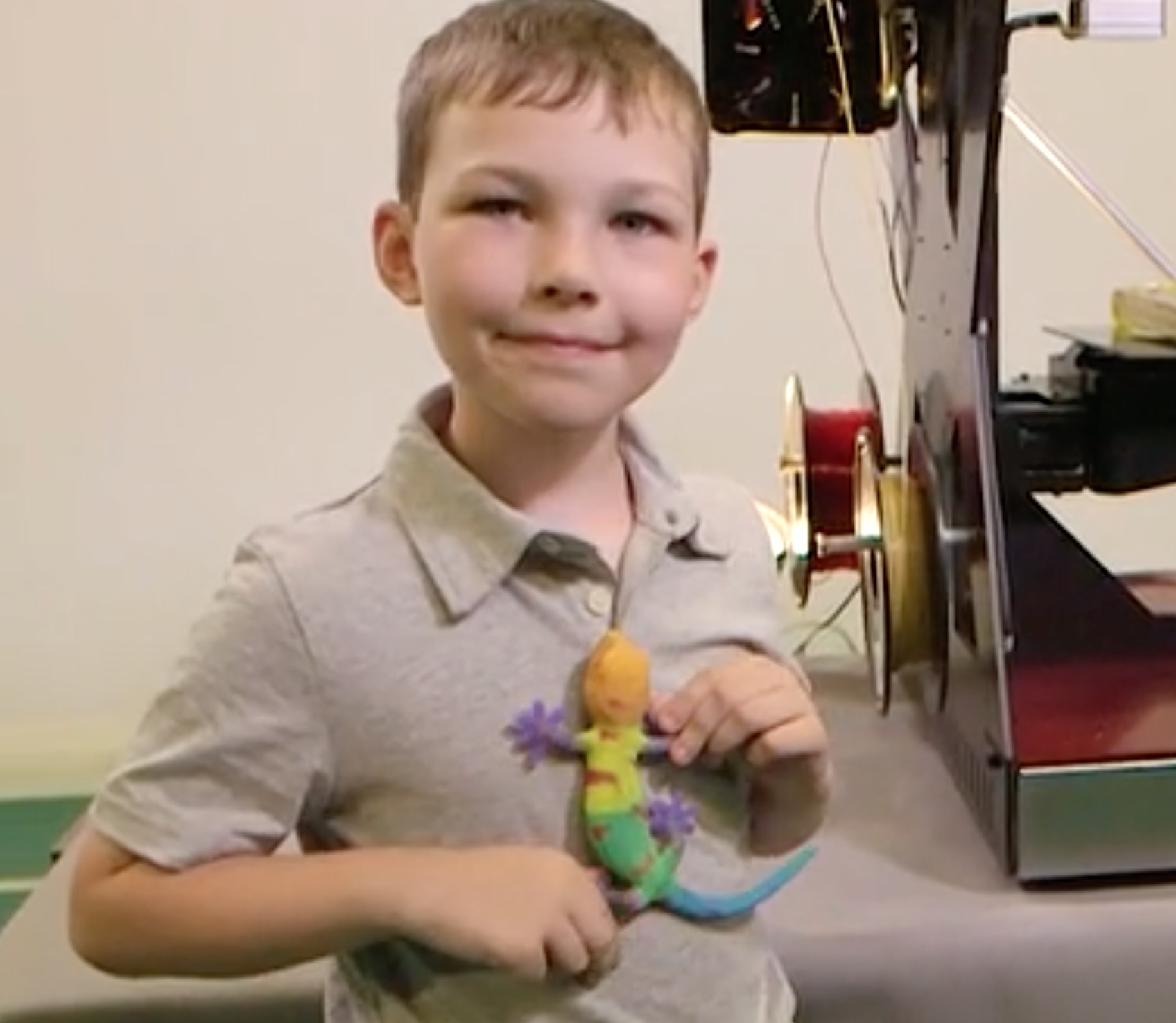 A true, full-color 3D print made on the RoVa4D