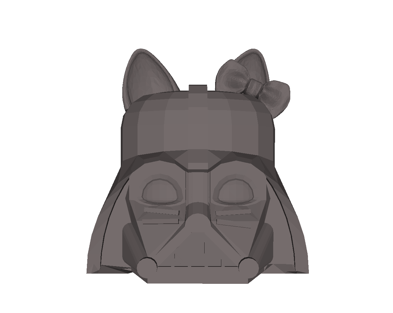 Darth Vader combined with Hello Kitty 3D model