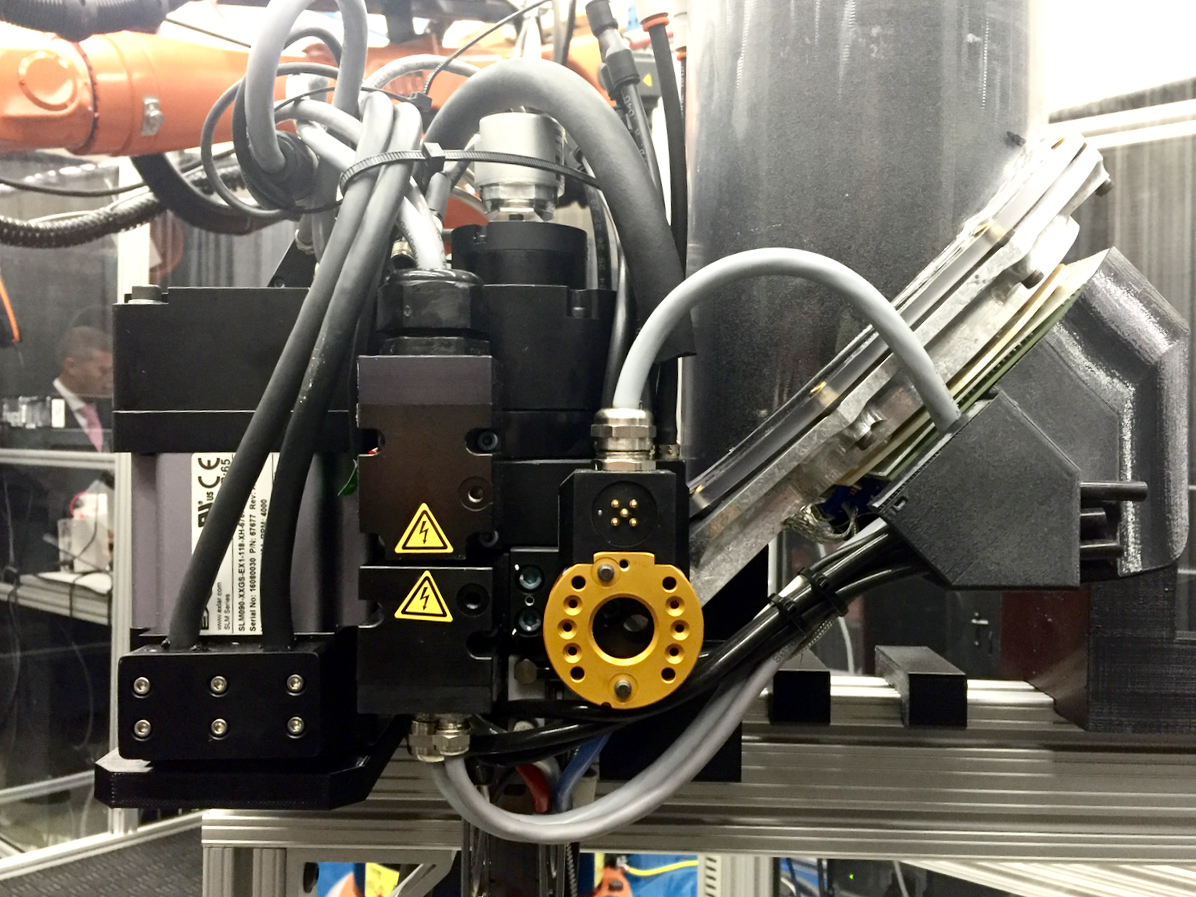 An alternate extruder for the Stratasys Robotic Composite 3D Demonstrator