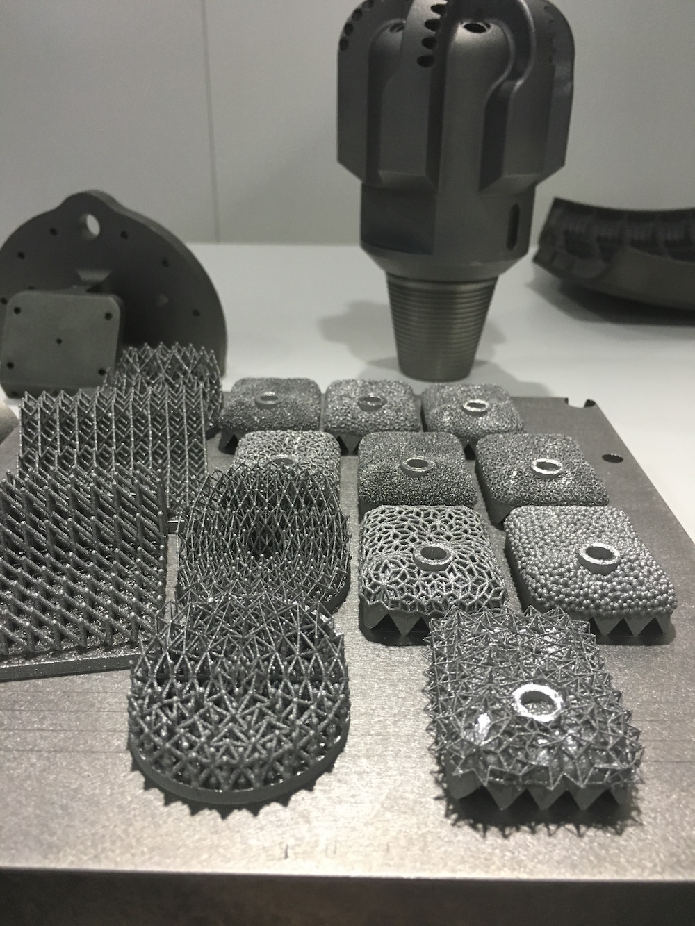 Sample metal parts produced by 3D Systems