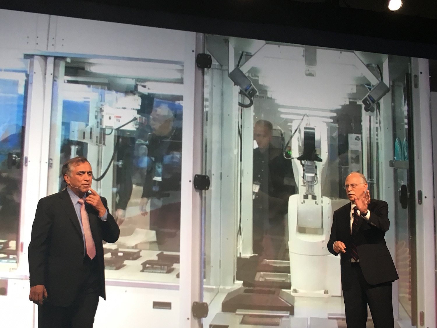 3D Systems CEO Vyomesh Joshi and Founder Chuck Hull introducing the Figure 4