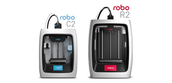 The C2 and R2 new desktop 3D printers from Robo3D