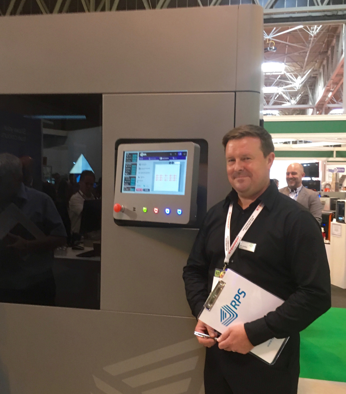 Rory Jackson with the RPS SL 3D printer