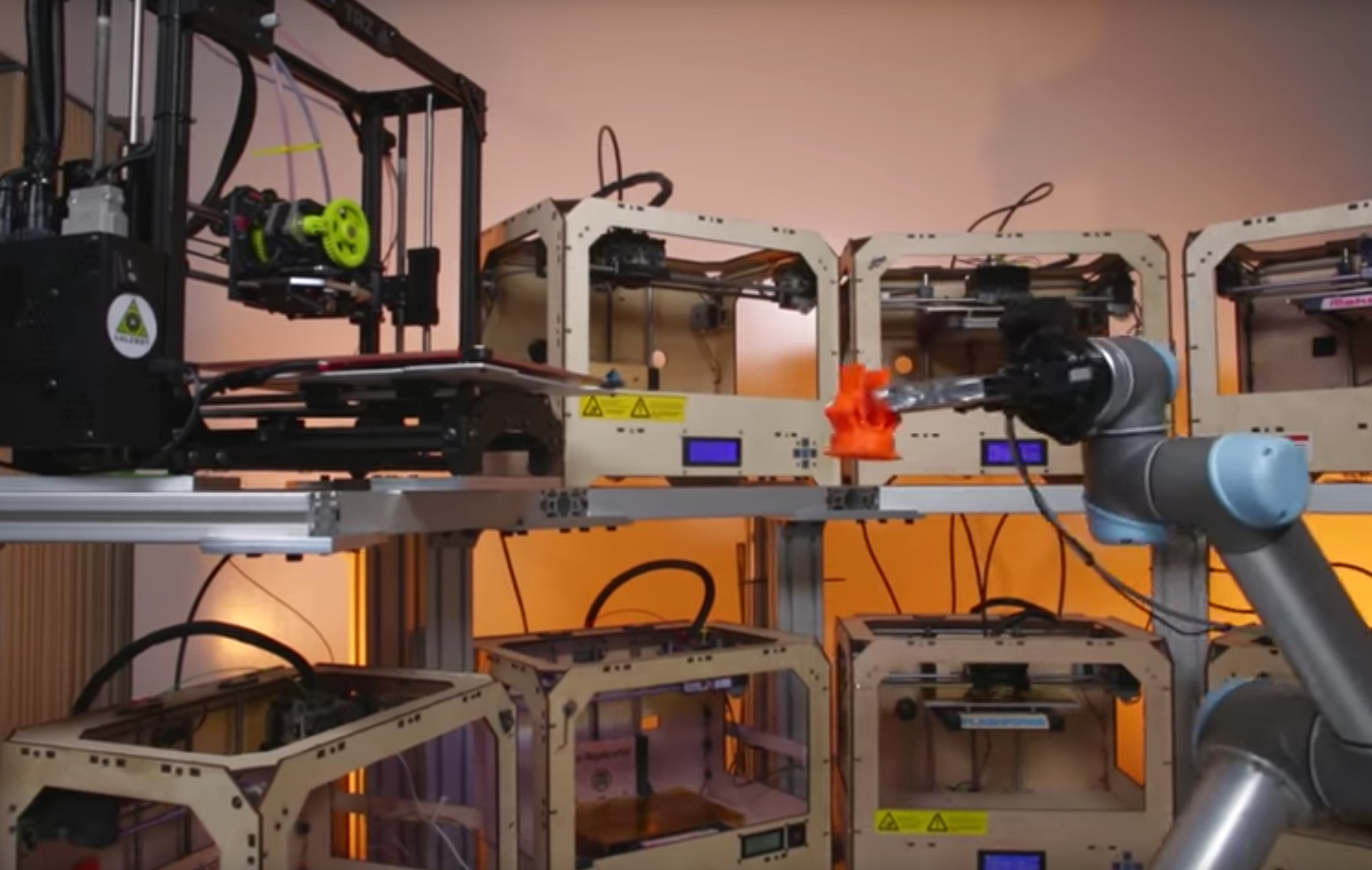 Tend.ai's automated 3D printer operations system