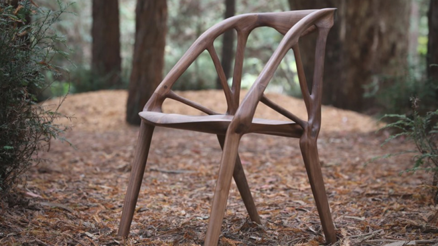 A chair design that's generated by software