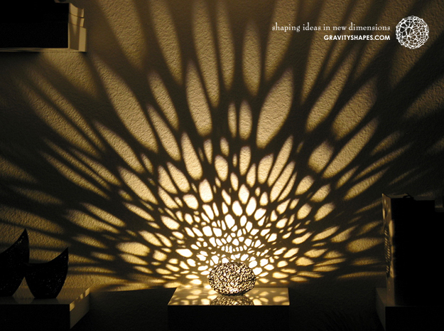 Light patterns from the Voronoi Pearl Light Lamp No. 1