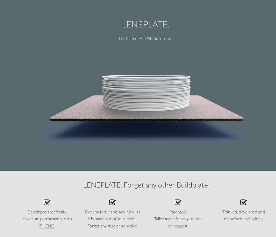 The page describing the LENEPLATE