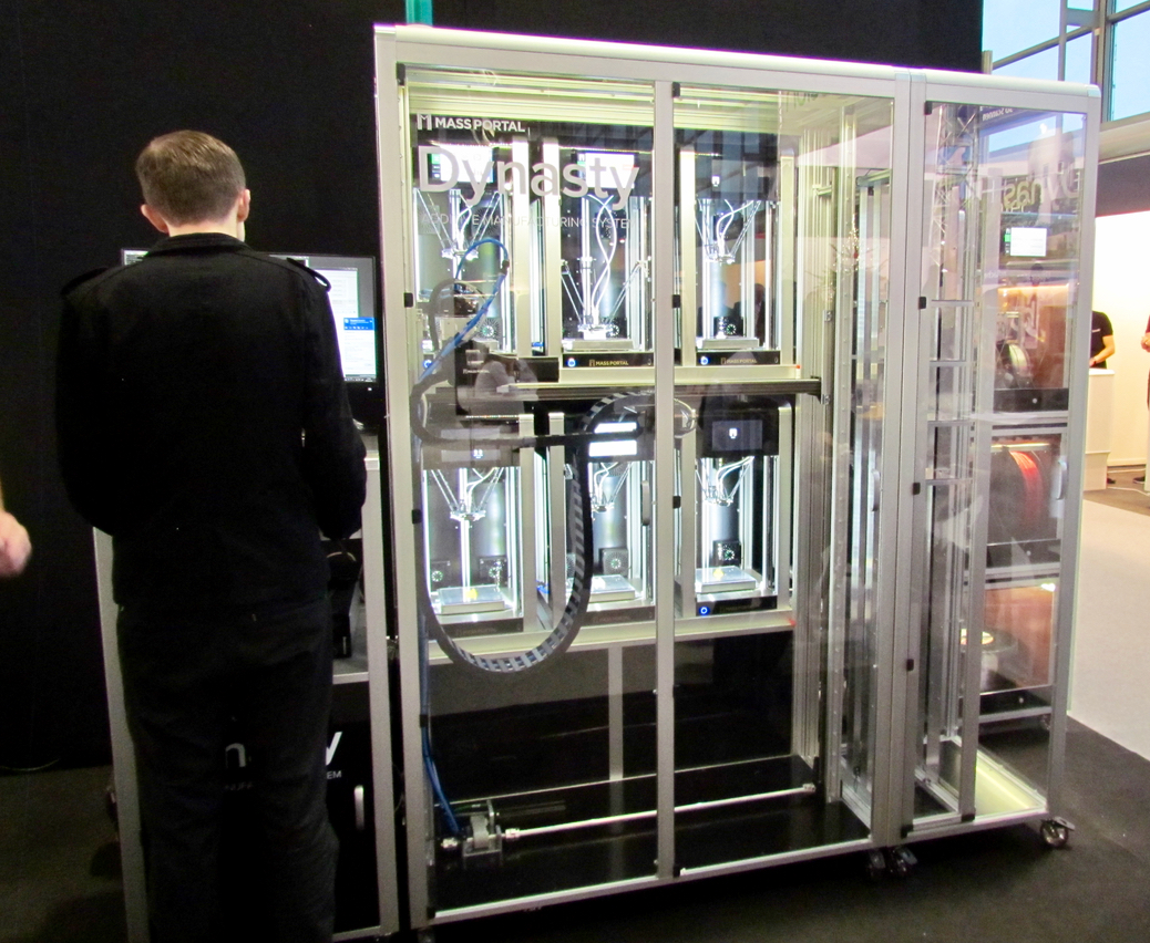 The Dynasty rack-mount 3D printing system from Mass Portal
