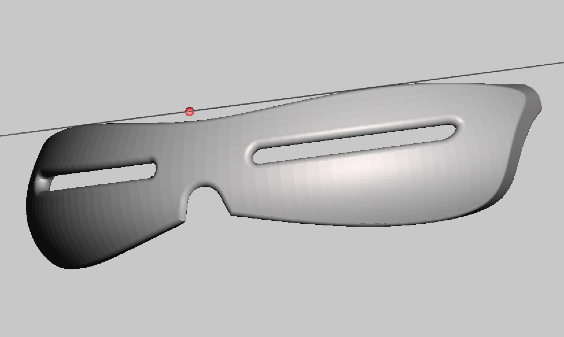 Smooth curves on these 3D printable snow goggle frames
