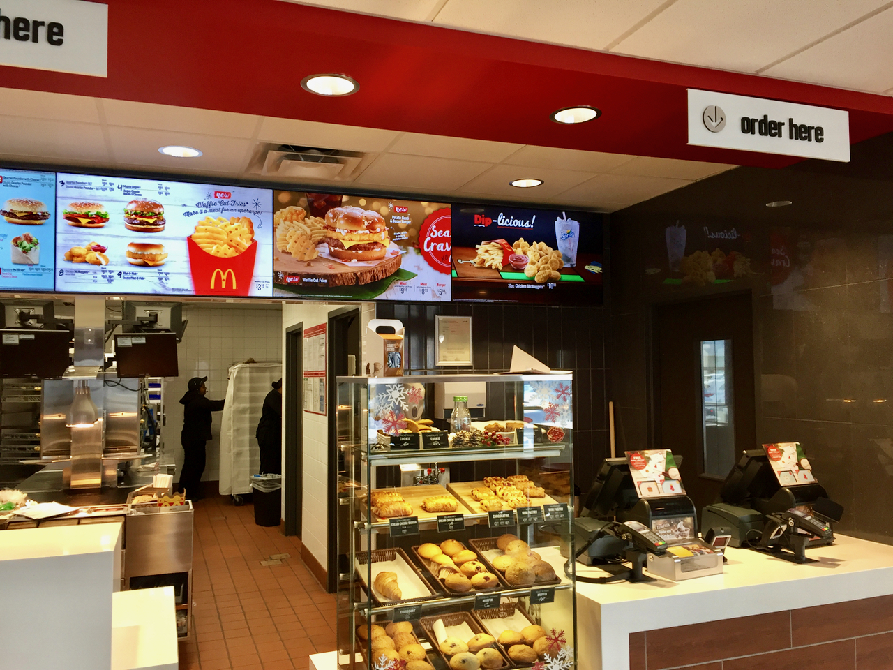 A very typical McDonalds outlet