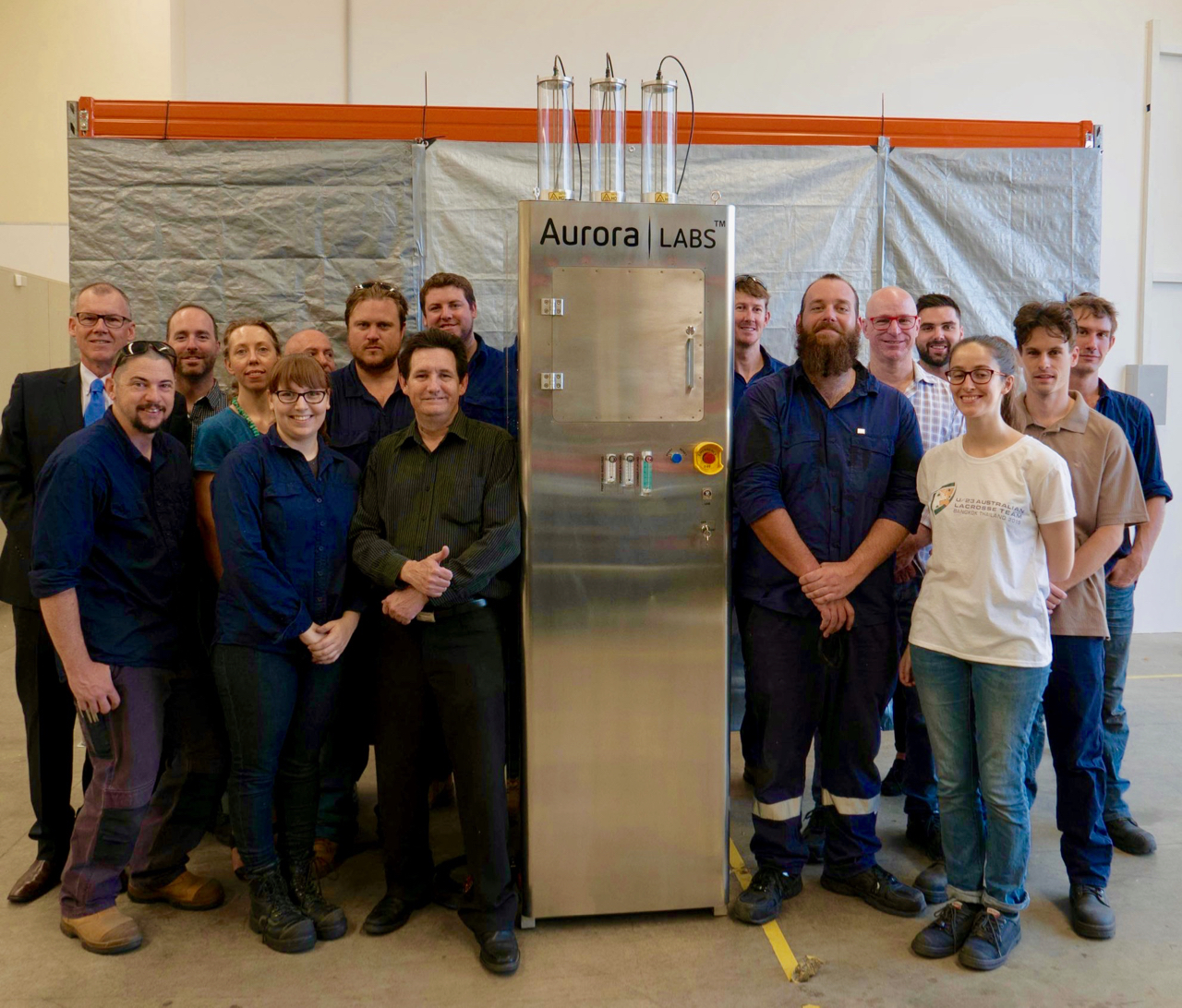 The Aurora Labs team and their first S-Titanium Pro 3D production metal printer shipment