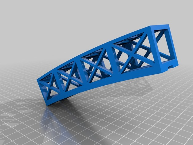 A segment of the 3D printed LED Bridge