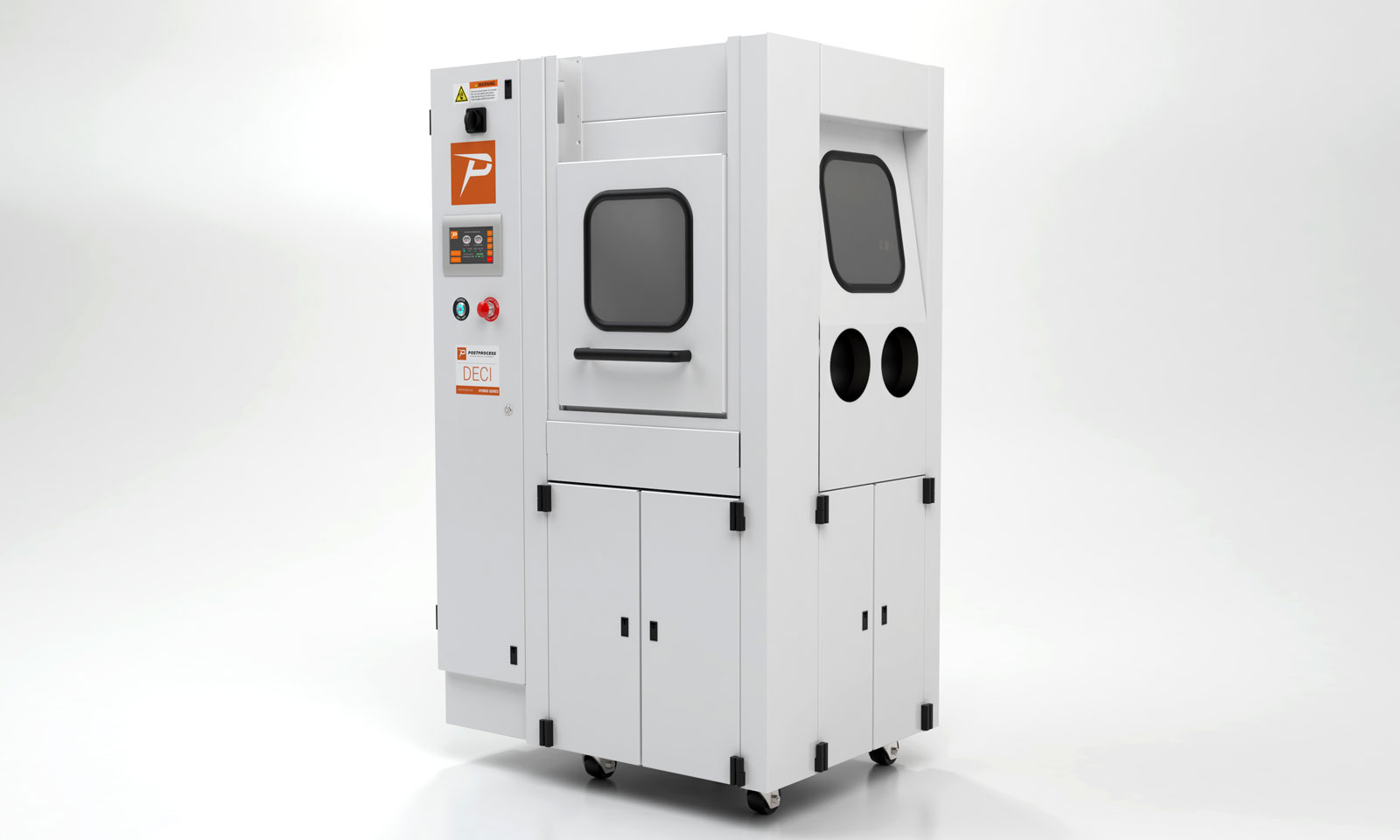 The PostProcess Deci Duo hybrid unit can clean and surface polish 3D prints