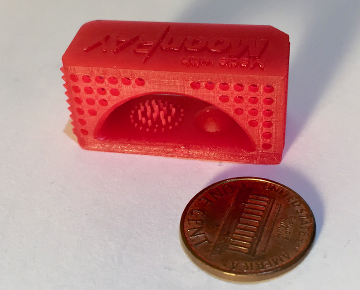 Sample 3D print from the MoonRay S