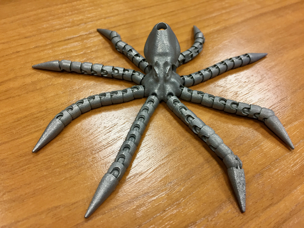 A metal 3D printed octopus made by Precision ADM