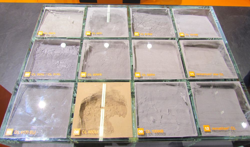 Some fancy metal powders for 3D printing