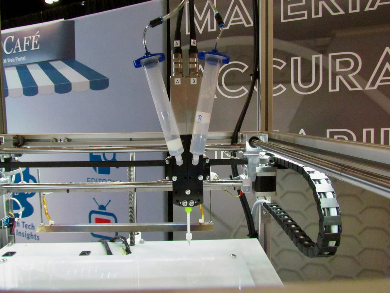 German RepRap's two-step silicone 3D printing process