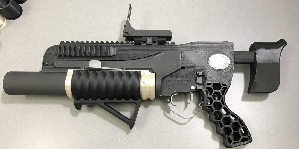 A mostly 3D printed grenade launcher prototype made by the US Army