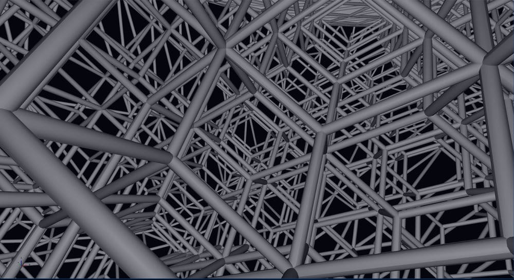 Detailed 3D lattice structures generated by nTopology's Element software