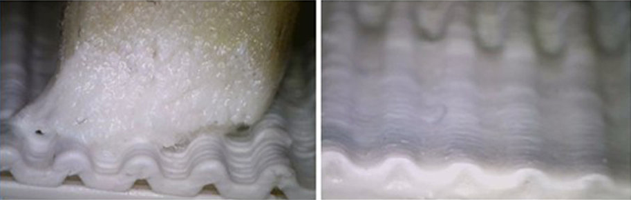 The 3D-CMF approach uses an optimized tip shape resulting in excellent smoothing
