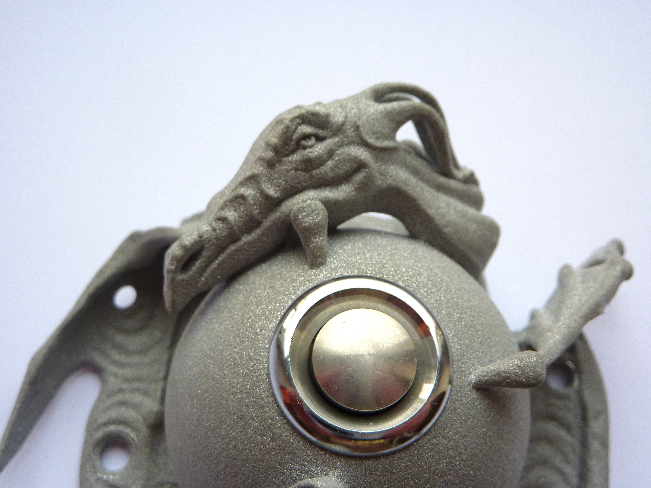 The 3D printed Guardian at the Gate doorbell cover