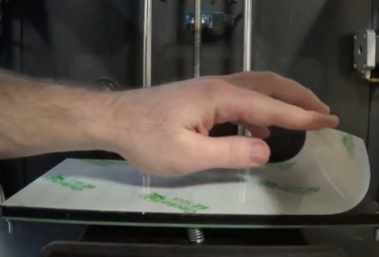 GeckoTek's EZ Stick 3D printing adhesion system is easy to apply: just roll it on and ensure it's flat