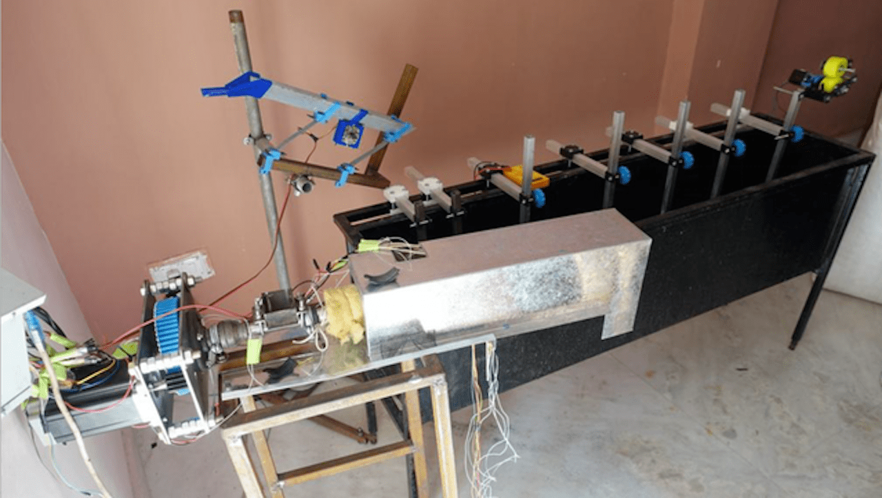 A prototype of Reflow's plastic recycling system to generate 3D printer filament