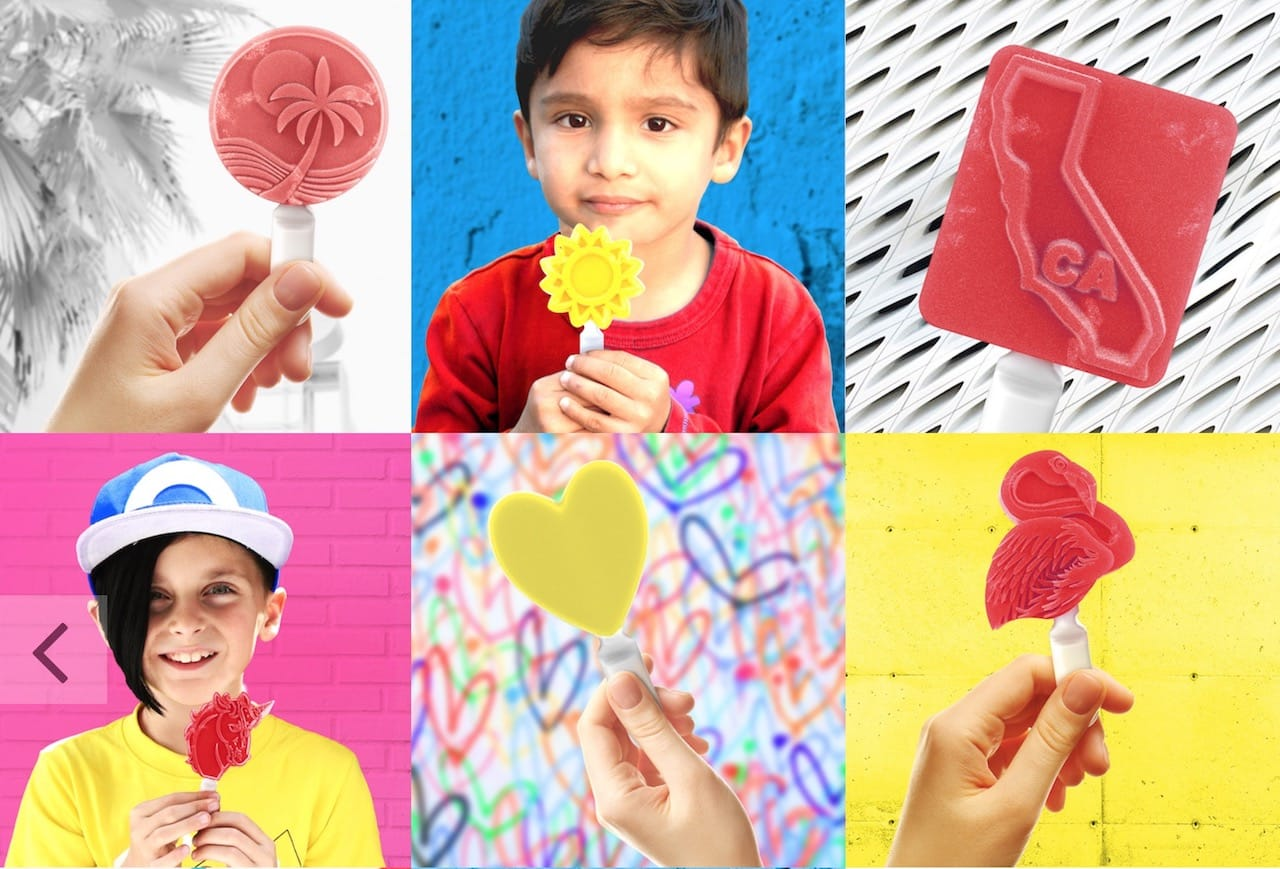 Some of Pixsweet's 3D printed ice pops available for online ordering