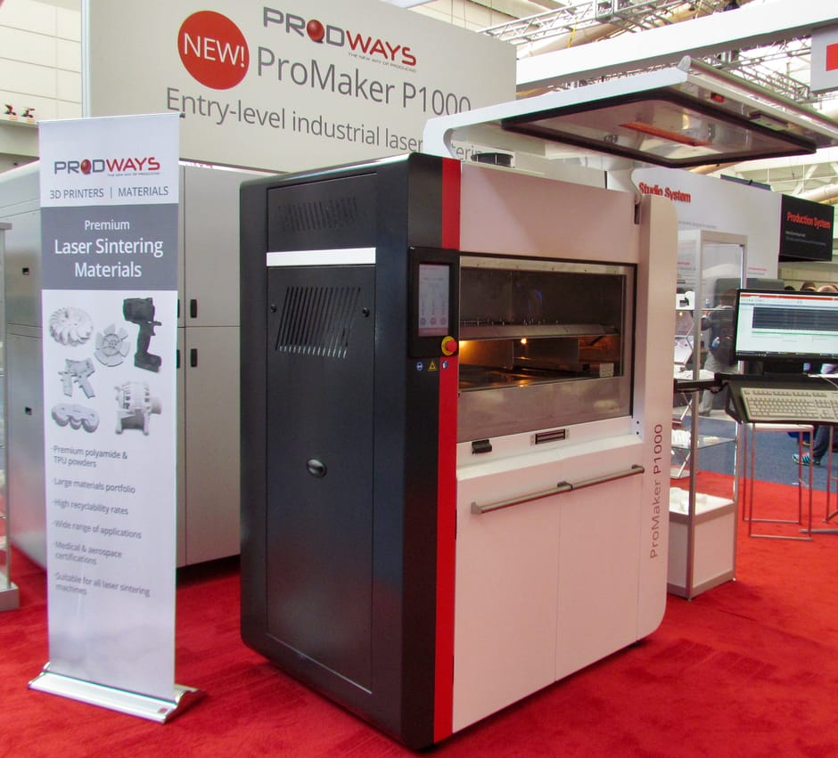 The new Prodways P1000 plastic SLS 3D printer