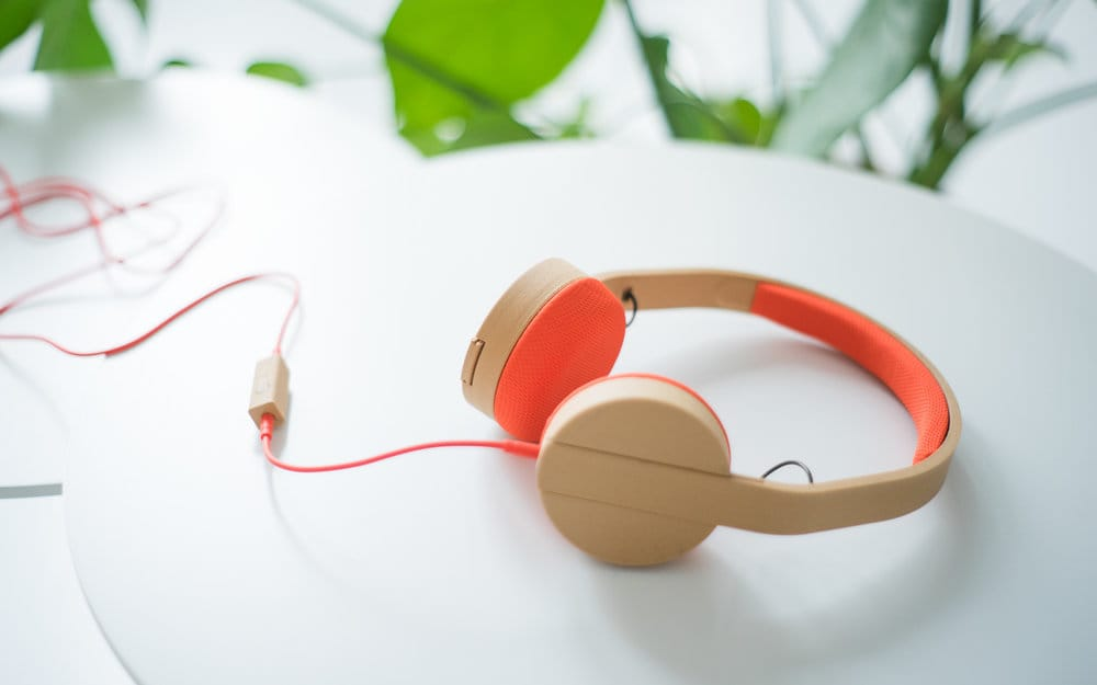 An example of locally made headphones from 3D Hubs' distributed manufacturing experiment