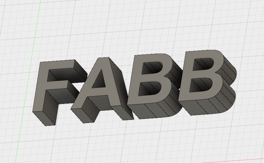 """How can you join 3D printed letters to form a """"solid"""" word?"""