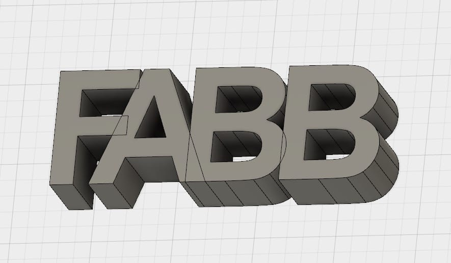 3D printed letters can sometimes be held together by fusing them together
