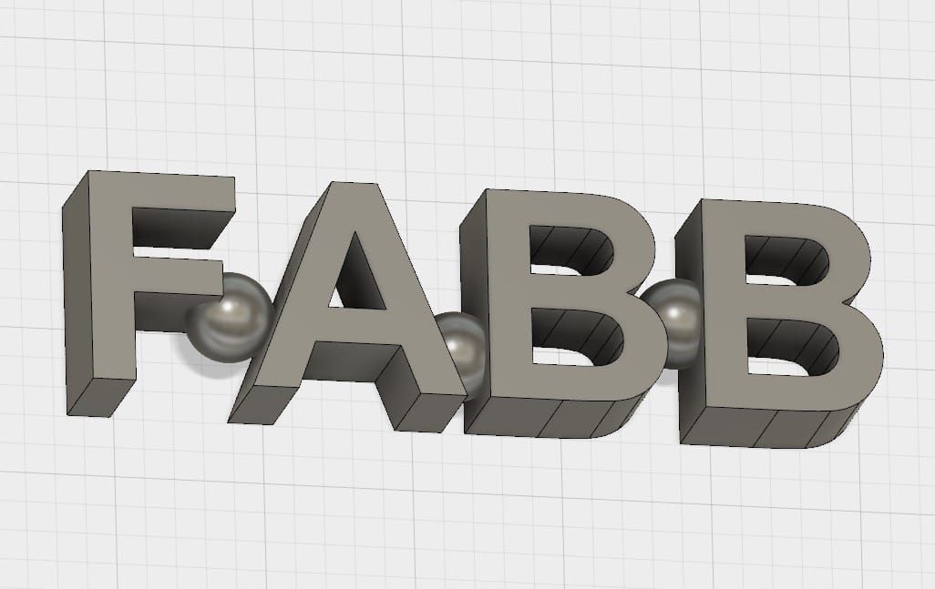 Another way to hold 3D printed letters together is to add an appropriate object in strategic spots
