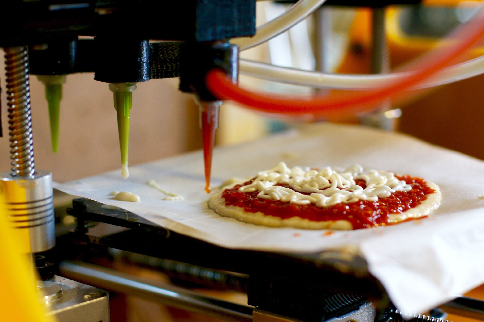 A 3D printed pizza by BeeHex, but what could the future hold for 3D printed food?