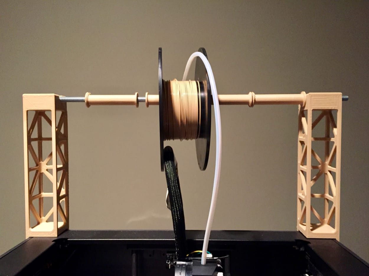 How do you deal with wrong-sized 3D printer spools?