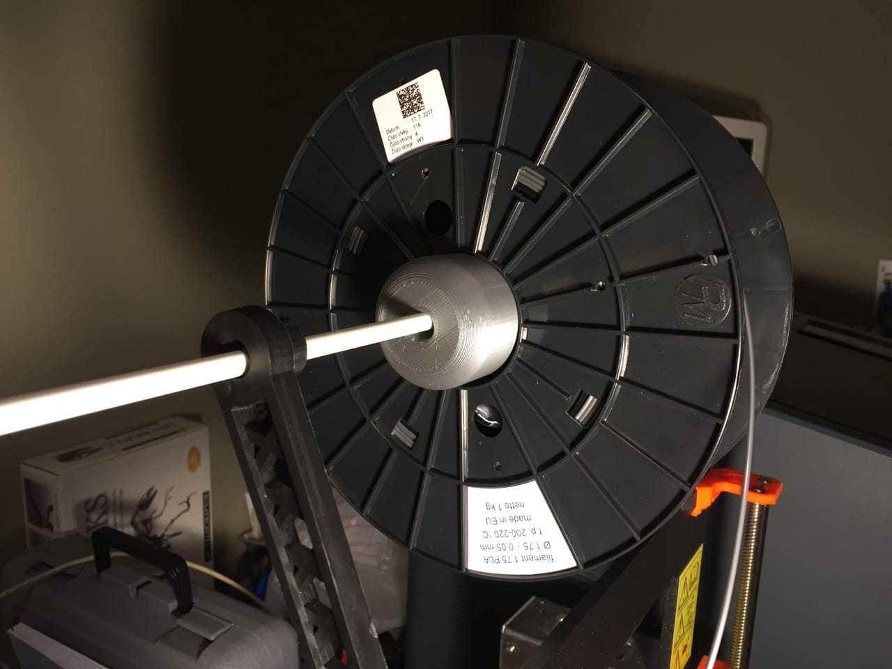 By adding some 3D printed adapters, you can sometimes fit a spool to a 3D printer
