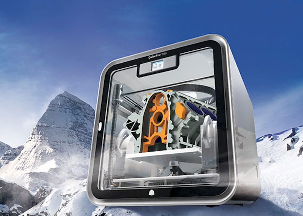 The CubePro, last in a long line of desktop 3D printers from 3D Systems