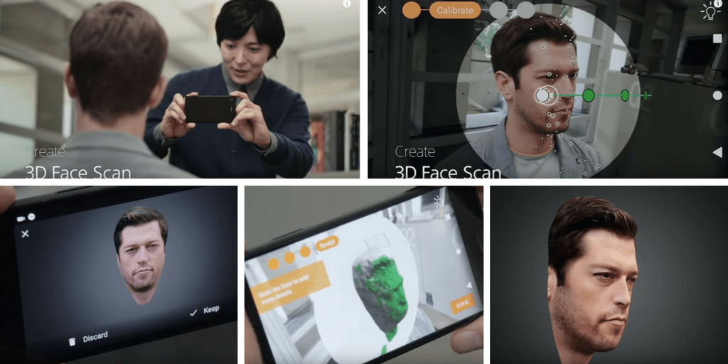 Sculpteo's 3D scan to print system on the Sony Experia