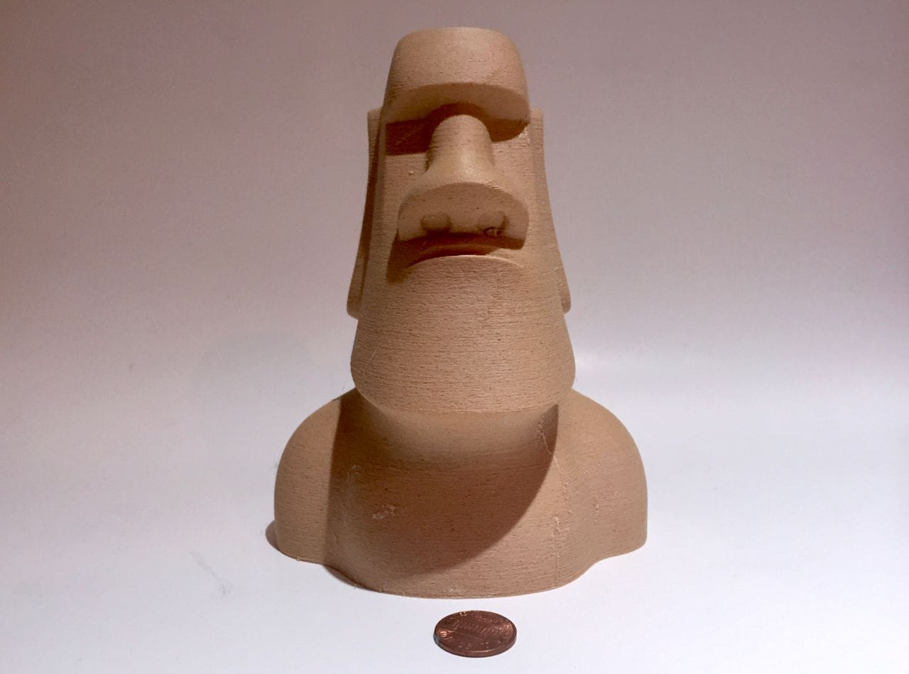 A magnificent wooden 3D print made with Fiberlogy's Fiberwood 3D print material