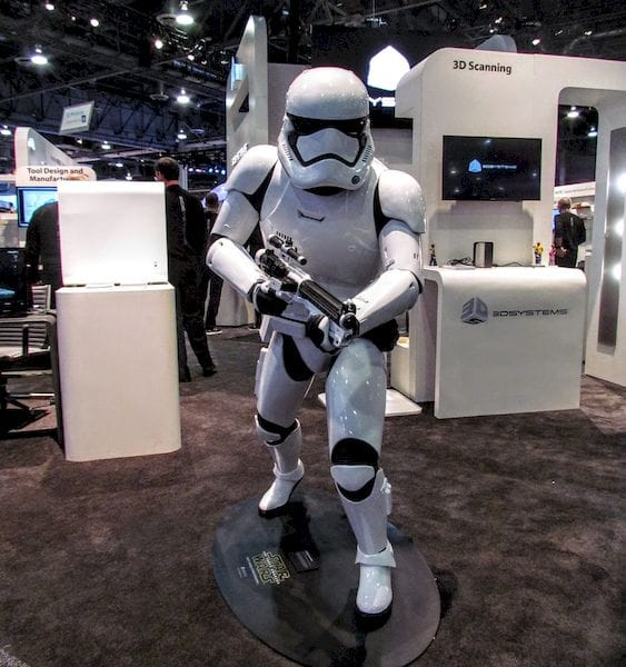 A 3D printed replica weapon - and stormtrooper, too