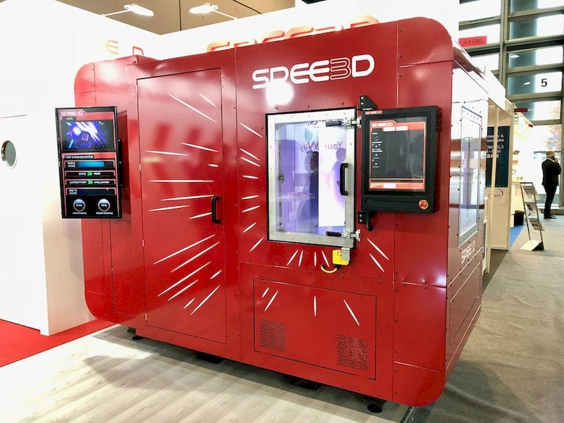 The supersonic-powered Spee3D metal printer