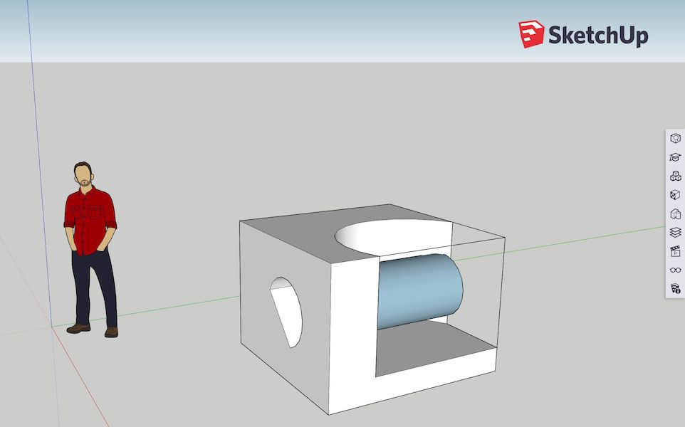 Building a silly test 3D object in SketchUp Free