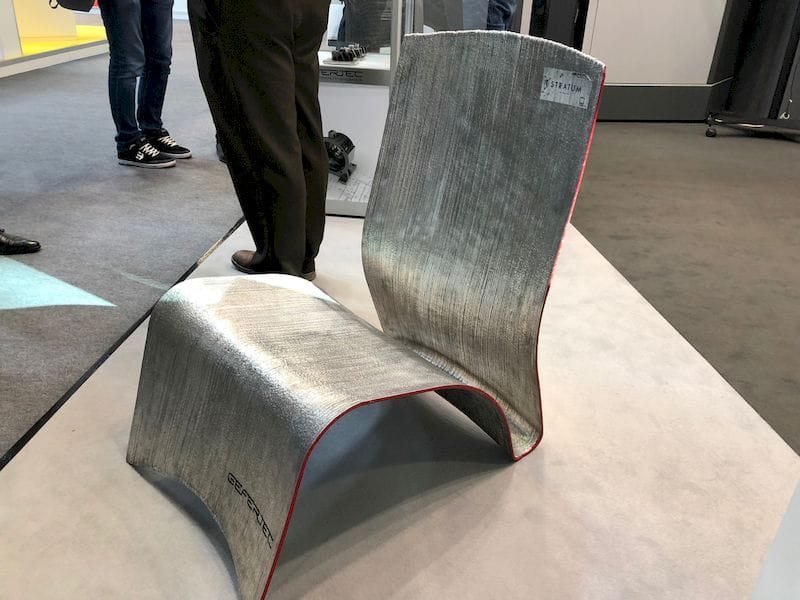 A 3D printed metal chair