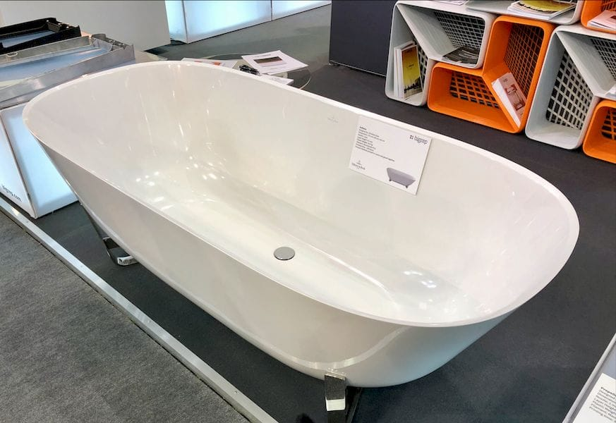 A 3D printed bathtub