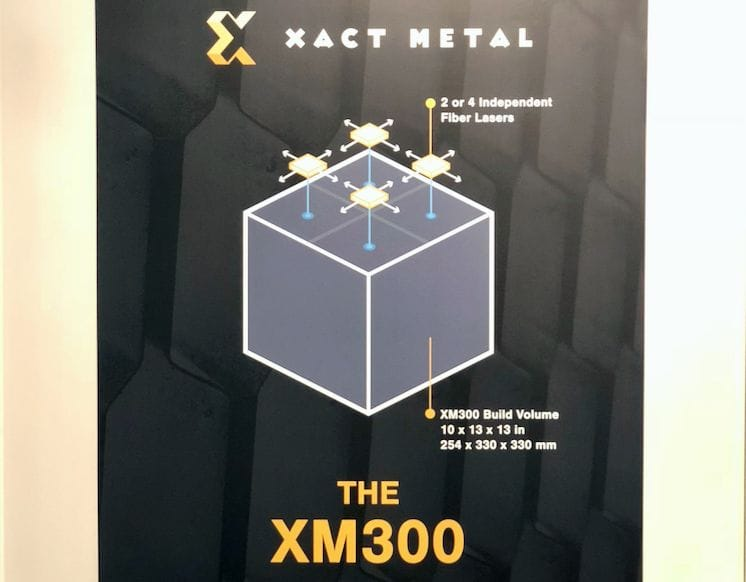 The XM300 3D metal printer is coming