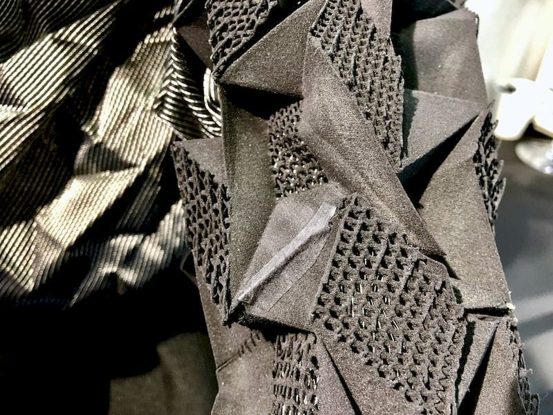 Detail of the Sinterit contribution to a fashion piece