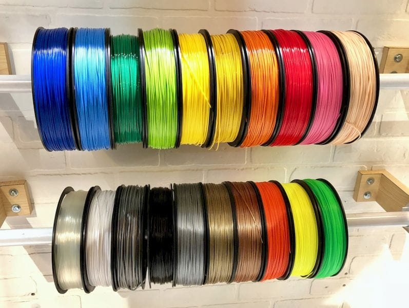 Many of the Kodak 3D printing materials are available in these brilliant colors