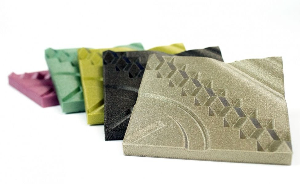 colorFabb's nGen-LUX material exhibits an unusual patina that obscures layer lines