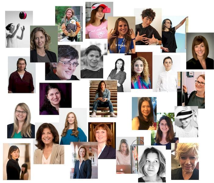 A few of the many women involved in 3D printing