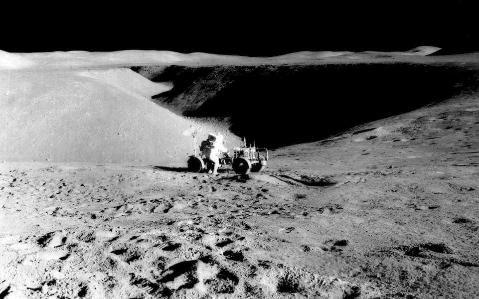 Not a 3D model: actual image of Hadley Rille, on the Moon